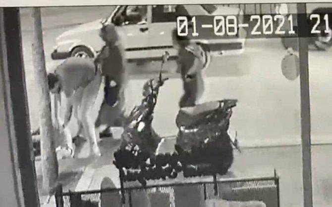 Devrilip sürüklenen motosikletin sürücüsü ve oğlu yaralandı