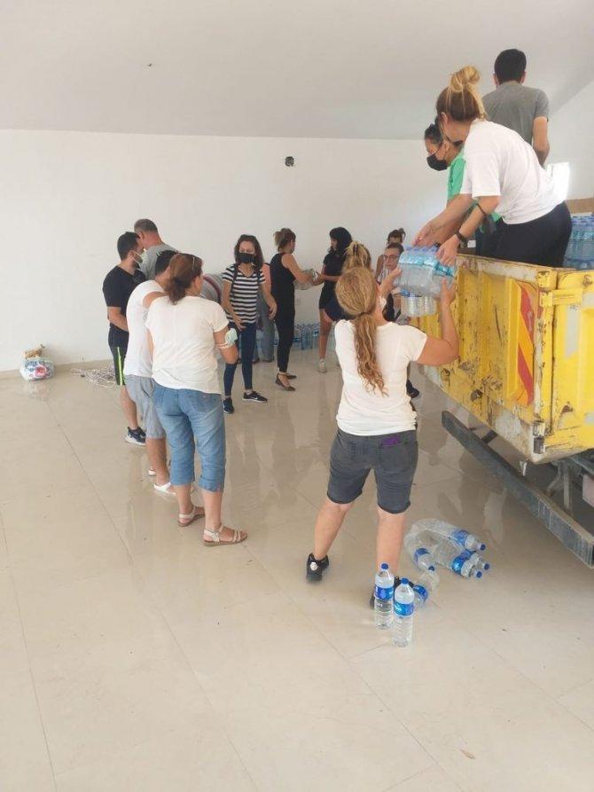 Efeler halkının bağışları yangın bölgesine ulaştı