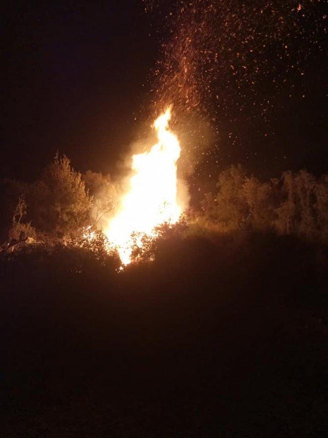 Bodrum'da çıkan yangın hızlı müdahaleyle söndürüldü