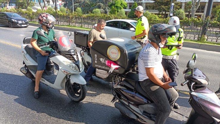 Fatih'te motosiklet denetimi