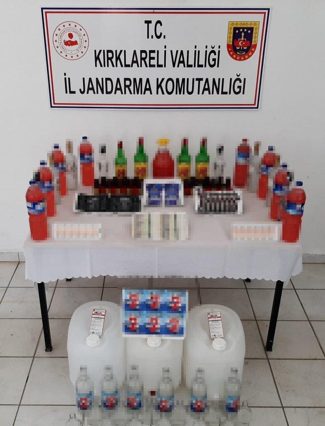 Sahte içki operasyonu: 1 ton 152 litre sahte içki ele geçirildi