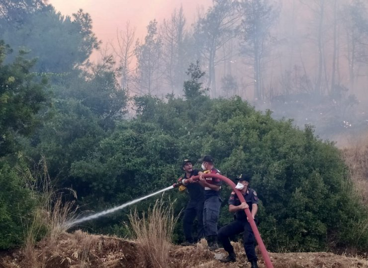 Jandarma 2 bin 630 personel, 339 araç ve 6 helikopterle yangınlara müdahale ediyor