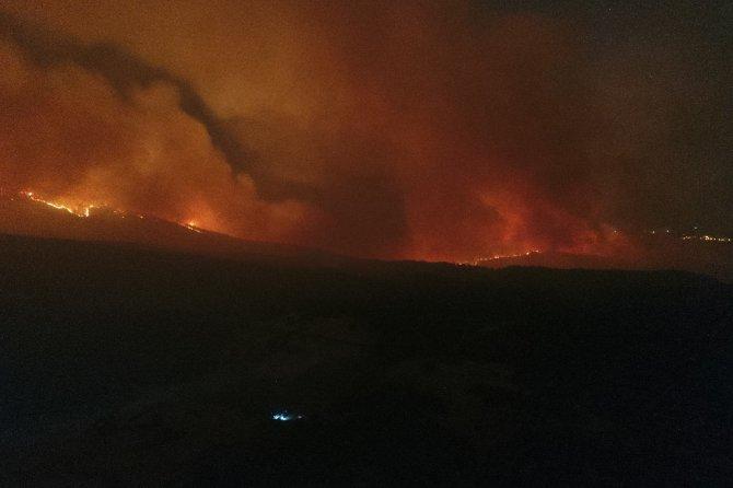 2 köy daha boşaltıldı, alevlerin sardığı bölge kızıla büründü