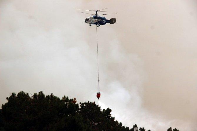 Alevler TRT vericilerine 500 metre yaklaştı