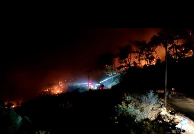Tarihi Amos Antik Kenti çevresindeki yangına TOMA müdahelesi