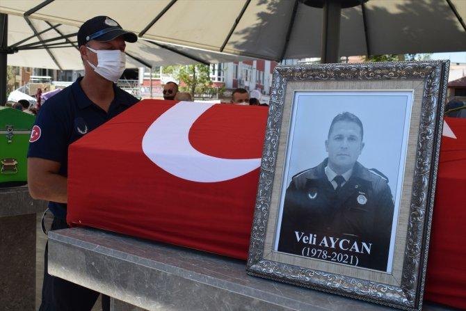Motosiklet kazasında ölen zabıta memurunun cenazesi defnedildi