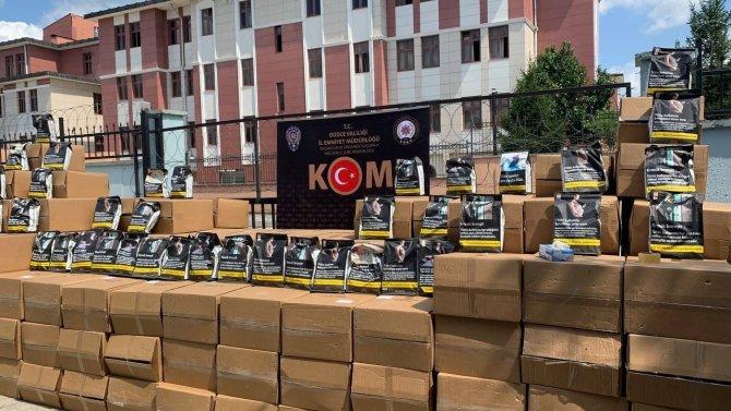 9.5 ton kaçak tütün ele geçirildi