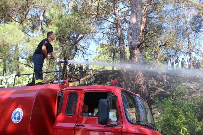 İki farklı noktadaki orman yangını söndürüldü