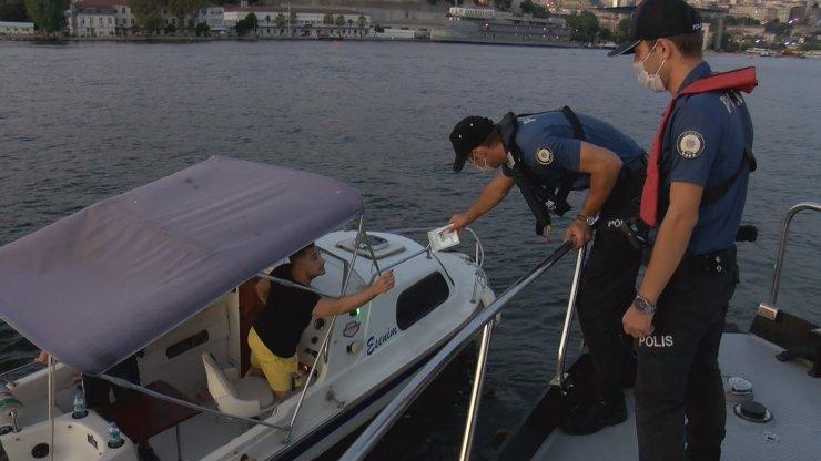 İstanbul Boğazı'nda teknelere yönelik denetim