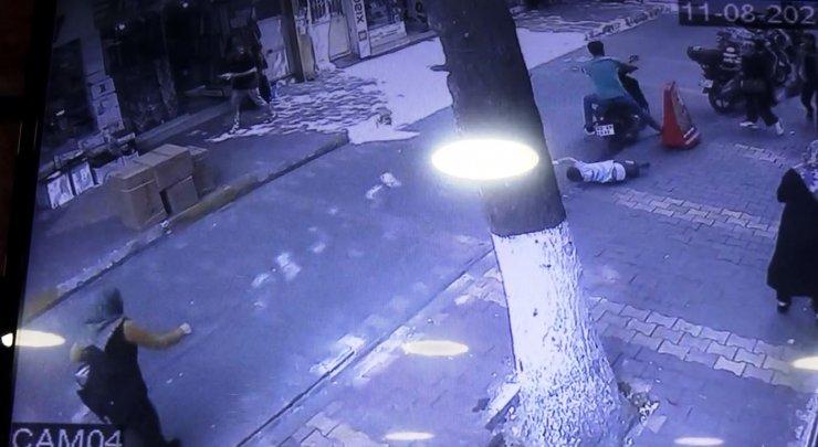 Motosikletin küçük Muhammed'e çarptığı kaza kamerada