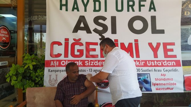 Şanlıurfa'da 'Aşı ol ciğerimi ye' kampanyası