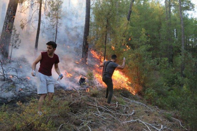 Yangının ilerleyişi devam ediyor