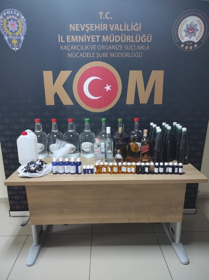 34 litre kaçak alkol ele geçirildi