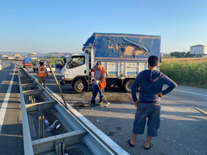 E-5'de trafiği kilitleyen kaza