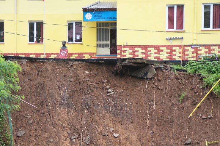 Heyelanda bahçesi hasar gören okul, eğitime açılacak
