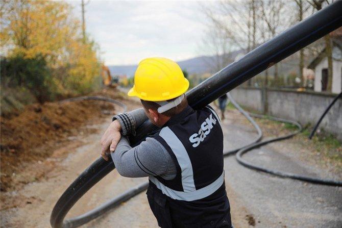 İki ilçe için 11 bin 500 metrelik yeni içmesuyu hattı
