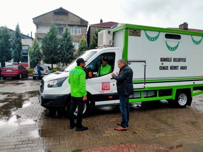Kandilli personeli Bozkurt'a destek için gitti