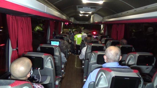 Kazalar sonrası tatil bölgelerine giden otobüsler tek tek denetlendi