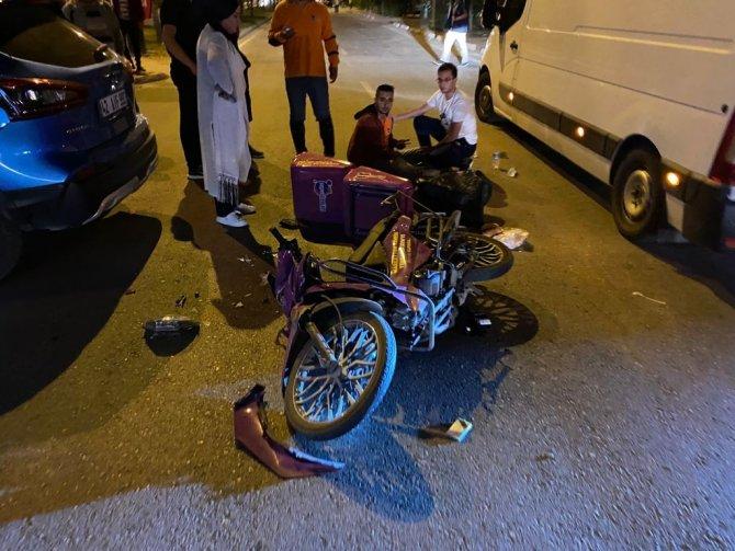 Konya'da motosiklet ile otomobil çarpıştı: 1 yaralı