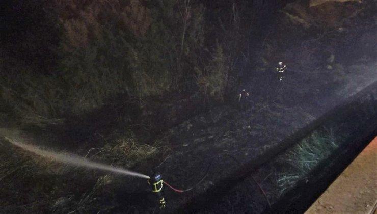 Orman girişindeki otları ateşe veren 4 kişi tutuklandı