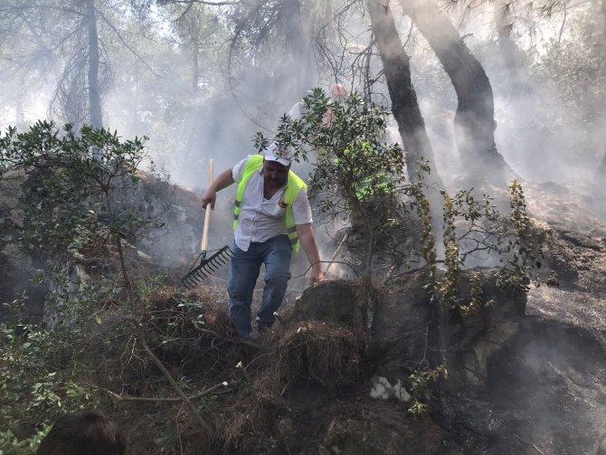 Sındırgı yangın söndürme çalışmalarında rol aldı