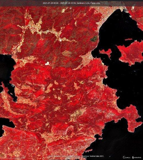 İTÜ orman yangınlarının bıraktığı hasarı uydudan tespit etti