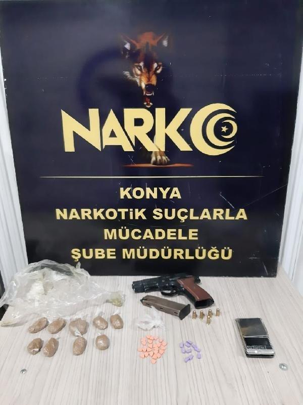 Konya'da zehir tacirlerine yönelik operasyonda 6 tutuklama