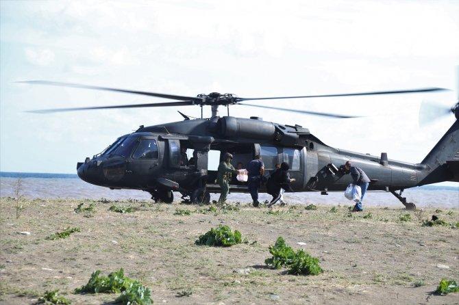Selde mahsur kalan vatandaşlar 2 gün sonra helikopterle kurtarıldı