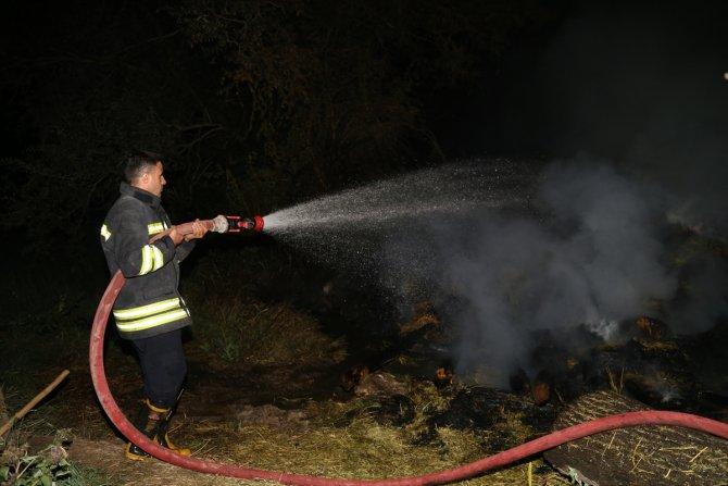 Çıkan ot yangını itfaiye ekiplerince söndürüldü