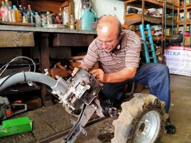 Çim motoru tamircilerinin yoğun mesaisi başladı