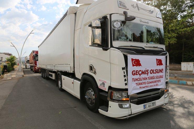 Tunceli'den sel bölgesine 85 ton su gönderildi