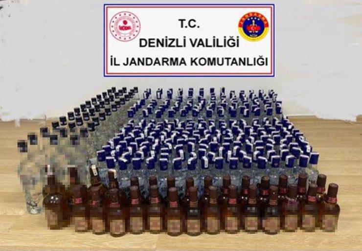 338 şişe sahte içki ele geçirildi
