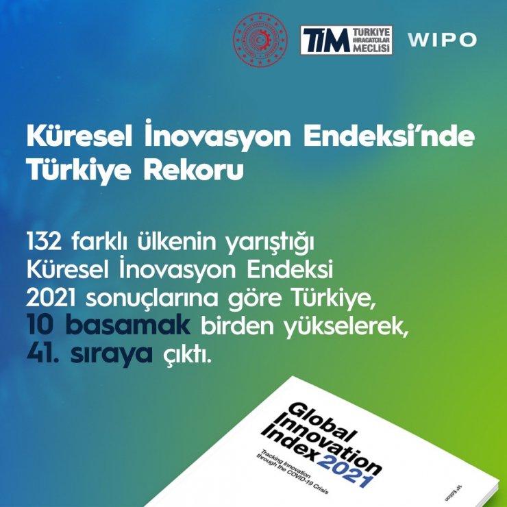 Türkiye, Küresel İnovasyon Endeksi'nde 41'inci sıraya yükseldi