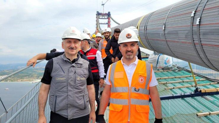 AK Parti'li Turan: 100 yıllardan beri süren hayalimizin bir yansıması bu köprü