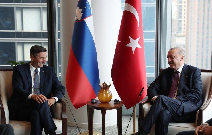 Cumhurbaşkanı Erdoğan, Slovenya Cumhurbaşkanı Pahor'la ikili görüştü