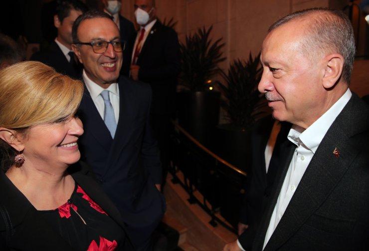 Erdoğan, Hırvatistan ve Bulgaristan Eski Cumhurbaşkanlarını kabul etti