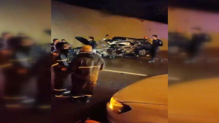 Üsküdar Tantavi Tüneli girişinde kaza: 1 yaralı