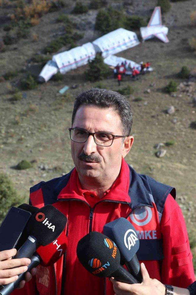 Konya'da gerçeğini aratmayan arama-kurtarma tatbikatı