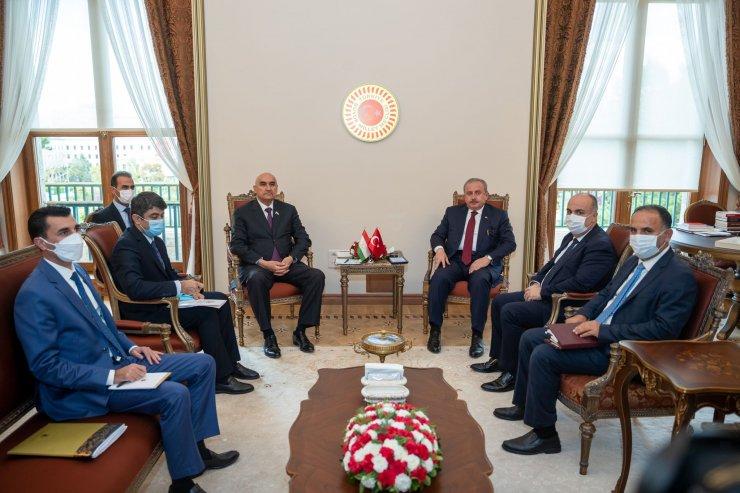 TBMM Başkanı Şentop, Tacikistanlı mevkidaşını Meclis'te ağırladı