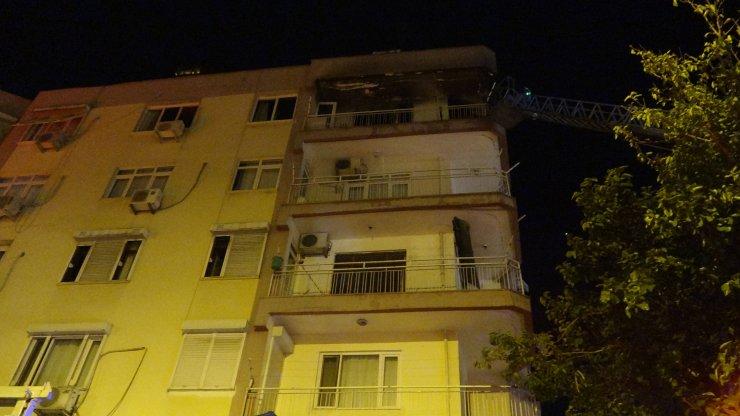 Evin mutfağında çıkan yangın mahalleliyi korkuttu