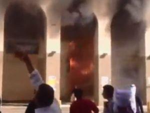 Kutsal topraklarda yangın dehşeti