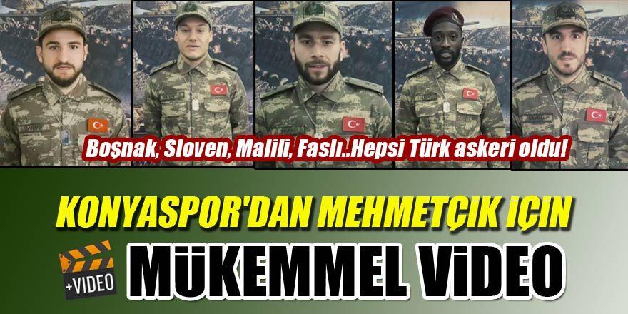Konyaspor'dan Mehmetçik için mükemmel video!