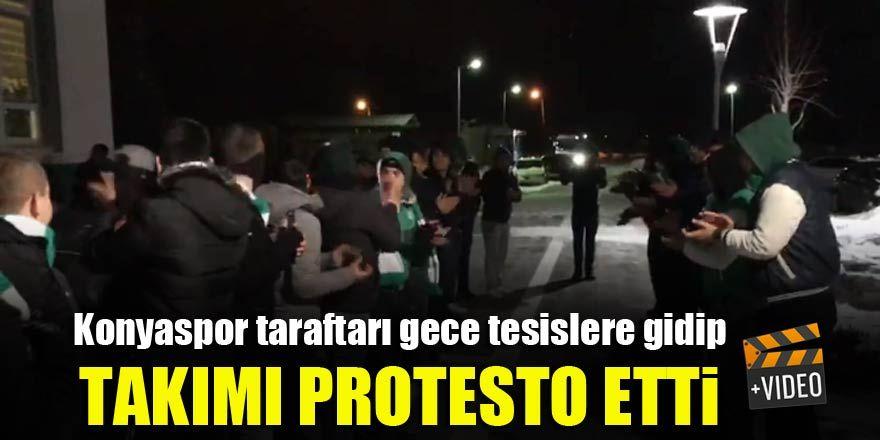 Konyaspor taraftarı tesislere gidip takımı protesto etti!