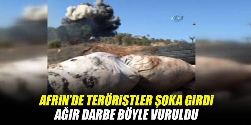 Katme köyünde YPG cephaneliği böyle vuruldu