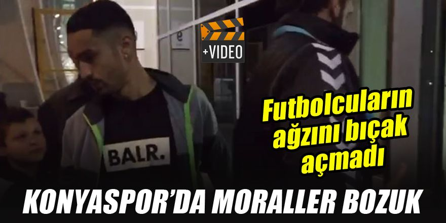 Konyaspor'da moraller bozuk! Futbolcuların ağzını bıçak açmadı