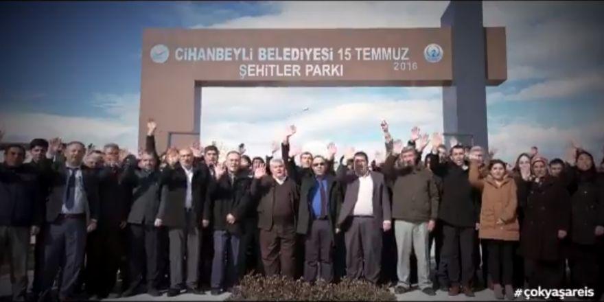 Cihanbeyli Belediyesi'nden Cumhurbaşkanı Erdoğan'a videolu kutlama