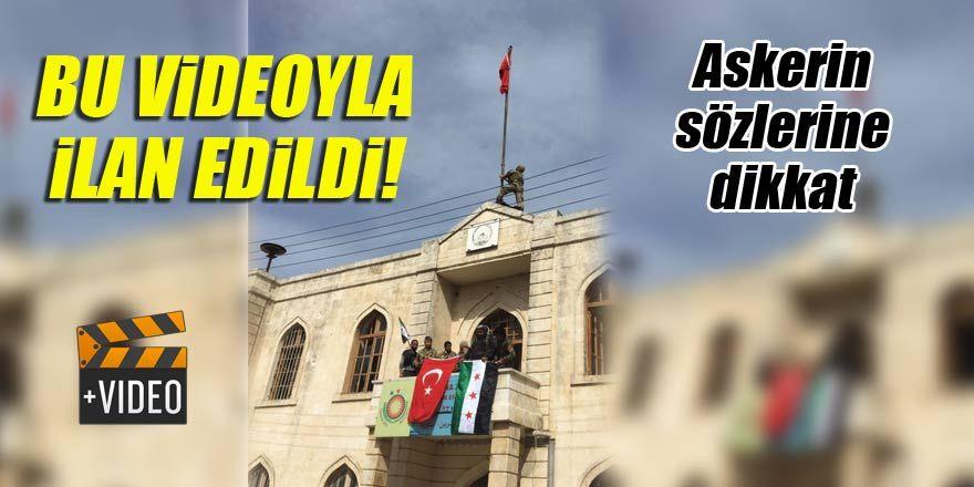 Afrin'den bomba görüntü düştü!