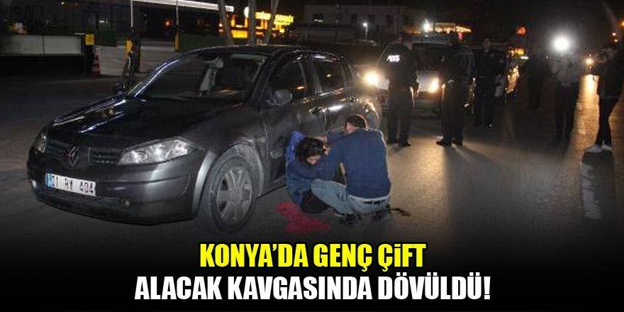 Konya'da genç çift, alacak kavgasında dövüldü