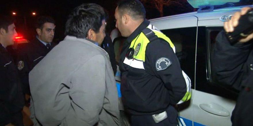 """Polisten 20 kilometre kaçtı, yakalanınca """"görmedim"""" dedi"""