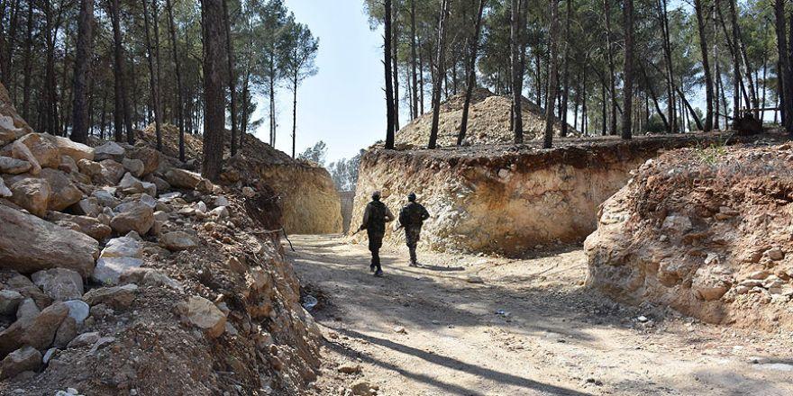 Afrin'de bin teröristi alacak yer altı karargahı bulundu